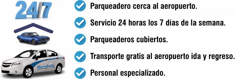 servicios parqueadero aeropuerto Medellín